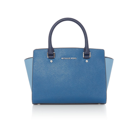 Selma tri colour blue tote bag