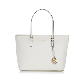 Jetset travel white zip top tote bag