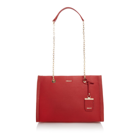 Tribeca red tote bag