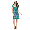 Mantaray Green floral print spotted trim dress