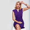 HotSquash Purple Kensington V Cut Dress in Clever Fabric