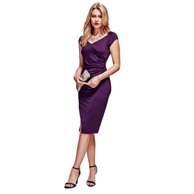 HotSquash Damson Raglan Sleeve Dress in clever fabric