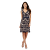 Betty Jackson.Black Blue lace dress