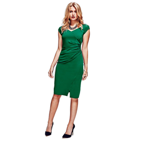 HotSquash Lawn Raglan Sleeve Dress in clever fabric