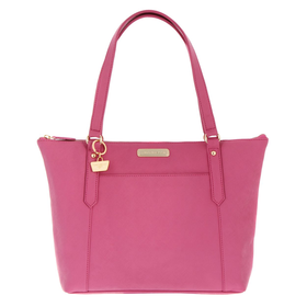 Portobello W11 Fuchsia 'Naomi' Saffiano real leather hand bag