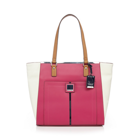 Principles by Ben de Lisi Pink colour block tote bag