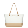 Dorothy Perkins White and nude eyelet tote bag