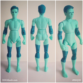 NiQ, The 3D-Printable Action Figure - w/out suit