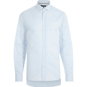River Island MensLight blue long sleeve shirt
