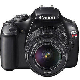 "Walmart: Canon EOS Rebel T3 Black 12.2MP DSLR Camera, EF-S 18-55mm 1:3.5-5.6 IS II Lens, 2.7"" LC"