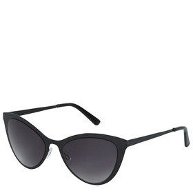 Flat Metal Cateye Sunglasses - Black