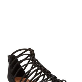 Women's Lucky Brand 'Casmett' Leather Caged Sandal,
