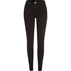 River Island Womens Black Amelie reform superskinny jeans