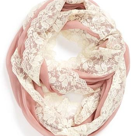 BP. Lace Trim Infinity Scarf (Juniors)