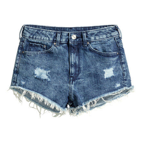 Distressed Denim Shorts - from H&M