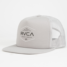 Rvca Industrial Mens Trucker Hat Light Grey One Size For Men 26056513101