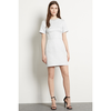 Warehouse Embellished Jacquard Dress, Silver