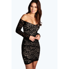 Danni Off The Shoulder Lace Wrap Hem Dress