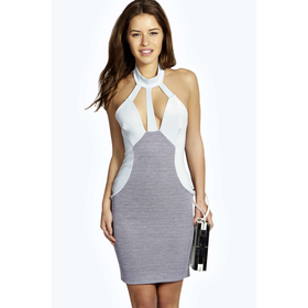 Petite Rachel Strappy Neck Bodycon Dress