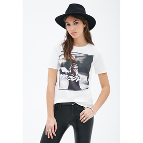 Meow Graphic Mesh Tee - Sale - 2000118478 - Forever 21 UK