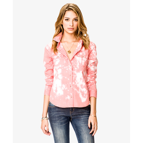 Bleached Button Shirt - Sale - 2044608415 - Forever 21 UK
