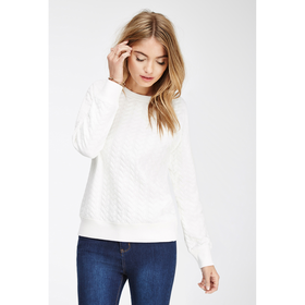 Heart-Embossed Sweatshirt - Sale - 2000079779 - Forever 21 UK