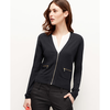 Tipped Zip Cardigan | Ann Taylor