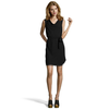 Wyatt black woven cowlneck tie detail sleeveless shift dress | BLUEFLY up to 70% off designer brands