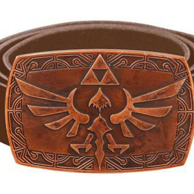 LEGEND OF ZELDA BROWN BELT WITH COPPER PATINA BUCKLE