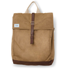 TOMS olive waxed canvas trekker backpack