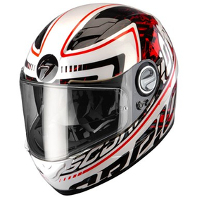 Scorpion EXO 500 Air Motorcycle Helmet Login Red
