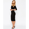 River Island Off The Shoulder Ribbed Bodycon Dress at asos.com