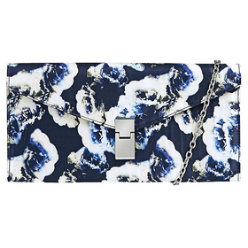 Winter Bloom Print Clutch Bag