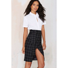 Office Ace Plaid Skirt