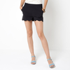 Stretch Twill Weave Shorts with Scalloped Edging