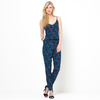 Tropical Printed Jumpsuit with Crossover Straps at Back