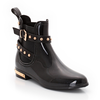 Wellington Boots with Studded Straps and Metal Heel Clip