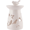 White Ceramic Birdfeeder Oil Burner - Bird