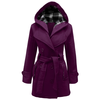 Candy Floss Ladies Hooded Belted Coat