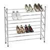 5 Tier Extendable Shoe Storage Rack - Chrome Plated.