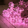 30 Pink Sunflower Indoor LED Fairy Lights