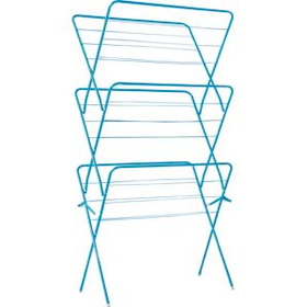 ColourMatch 15m 3 Tier Indoor Clothes Airer - Fiesta Blue.