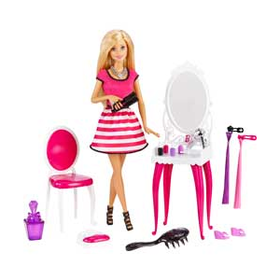 Barbie Doll and Vanity.