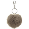 Faux Fur Pompom Keyring - Taupe from The White Company