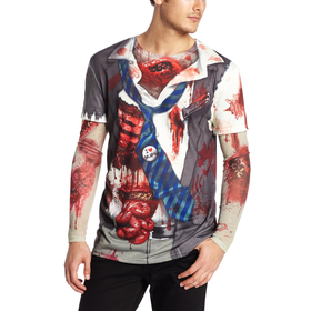 Faux Real Mens Zombie with Mesh Sleeve