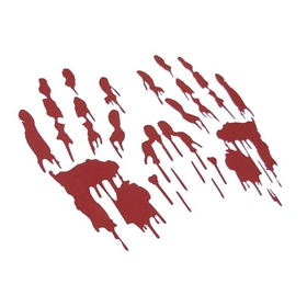 Bloody Hand Prints Decal Zombie Car Vinyl Sticker LARGE PAIR RED StickerCiti Brand