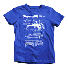 Time Machine Blueprint Back To The Future T-Shirt Funny