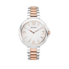 Bulova White Dial 2 Tone Rose Gold Stainless St