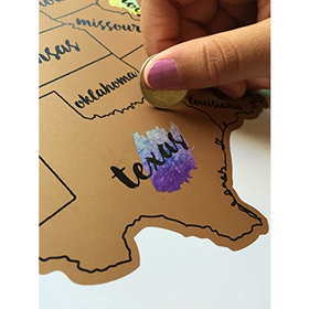 United States of America (USA US) Watercolor Art Scratch Off Map ...