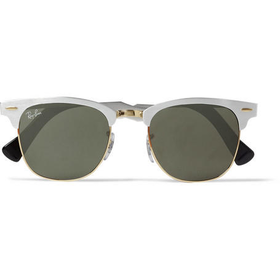 Ray-Ban - Clubmaster Acetate and Metal Sunglasses | MR PORTER